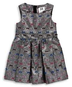 Milly Minis Little Girl's Printed Pleated Dress