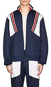 Facetasm MEN'S KNIT-TRIM TECH-TWILL TRACK JACKET-NAVY SIZE 3 JP