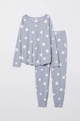 H&M Pajama Top and Pants - Blue