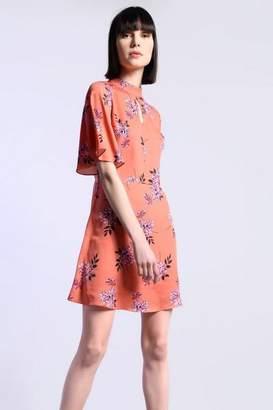 Glamorous **Floral Print High Neck Skater Dress by Petites
