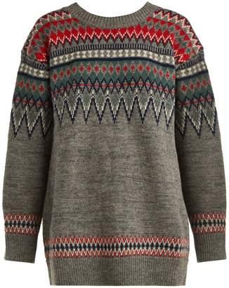 Junya Watanabe Fair Isle knitted wool sweater