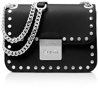 MICHAEL Michael Kors Sloan Editor Chain Stud Medium Leather Shoulder Bag $298 thestylecure.com