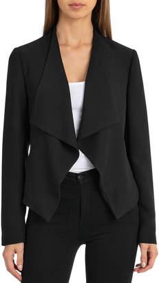 Bagatelle Draped Crepe Open-Front Jacket