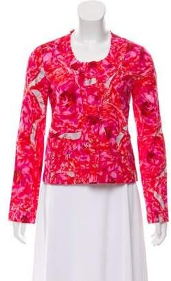 Thakoon Pleated Floral Jacket