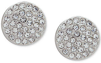 DKNY Pave Disc Stud Earrings