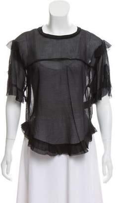 Isabel Marant Ruffled Short Sleeve Top