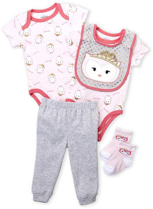 Baby Essentials Quiltex (Newborn Girls) 5-Piece Owl Layette Set