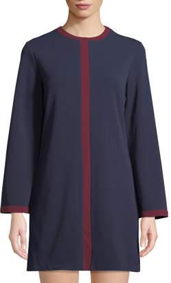 Alexia Admor Flare-Sleeve Contrast-Seam Shift Dress