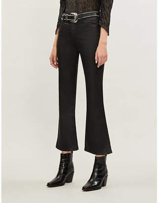 AG Jeans Quinne leather-look stretch-cotton jeans