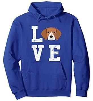 I Love My Dog - Beagle Retro Dog Lover Hoodie