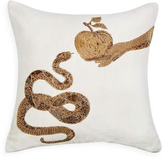 Jonathan Adler Muse Snake & Apple Throw Pillow
