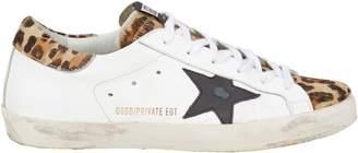 Golden Goose Superstar Leopard Low-Top Sneakers