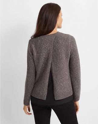 Club Monaco Split-Back Woven Sweater