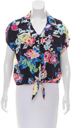 Yumi Kim Silk Short Sleeve Top