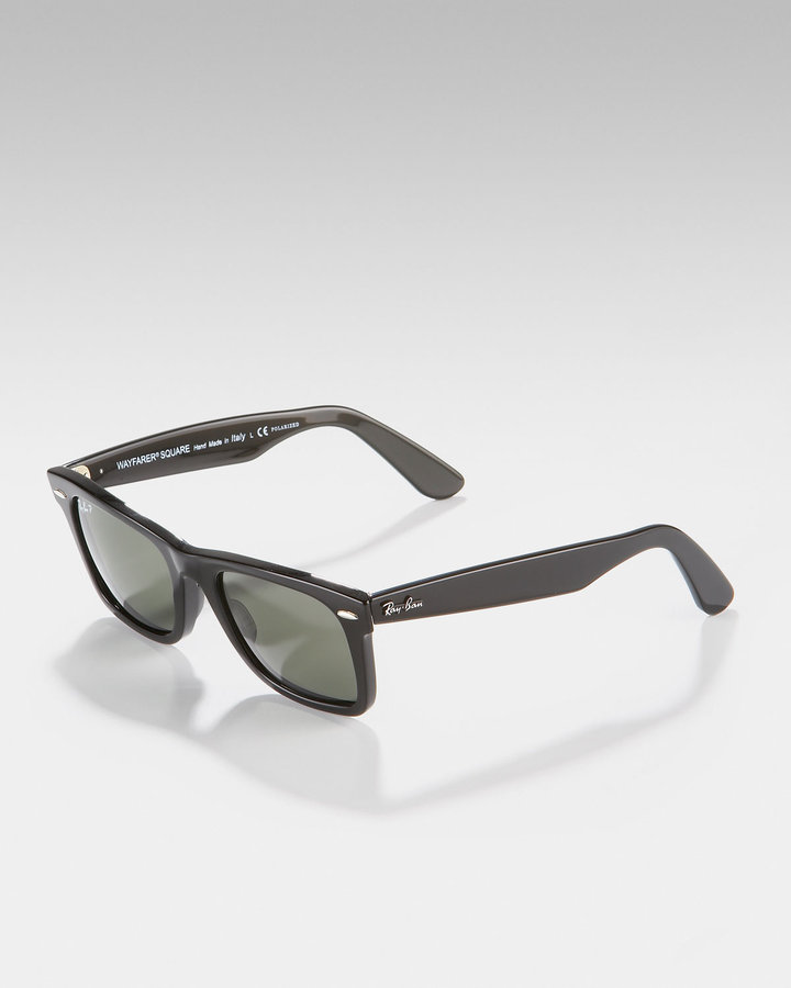 Ray Ban Wayfarer Square Sunglasses, Black