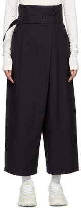 Enfold Navy Wide-Leg Trench Trousers