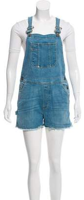 Frame Raw-Edge Overalls