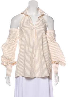Petersyn Off-The-Shoulder Striped Blouse
