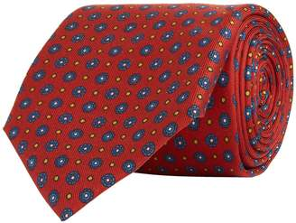 Turnbull & Asser Mosiac Floral Silk Tie