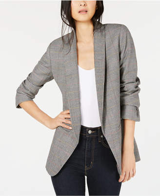 Bar III Open-Front Plaid Blazer