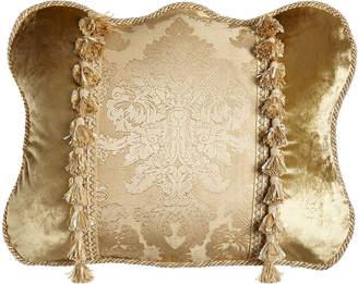 "Dian Austin Couture Home King Geneva Pieced Damask-Center Sham, 20"" x 36"""