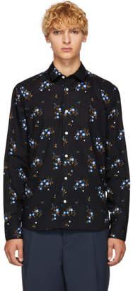 Kenzo Black Floral Urban Slim Shirt