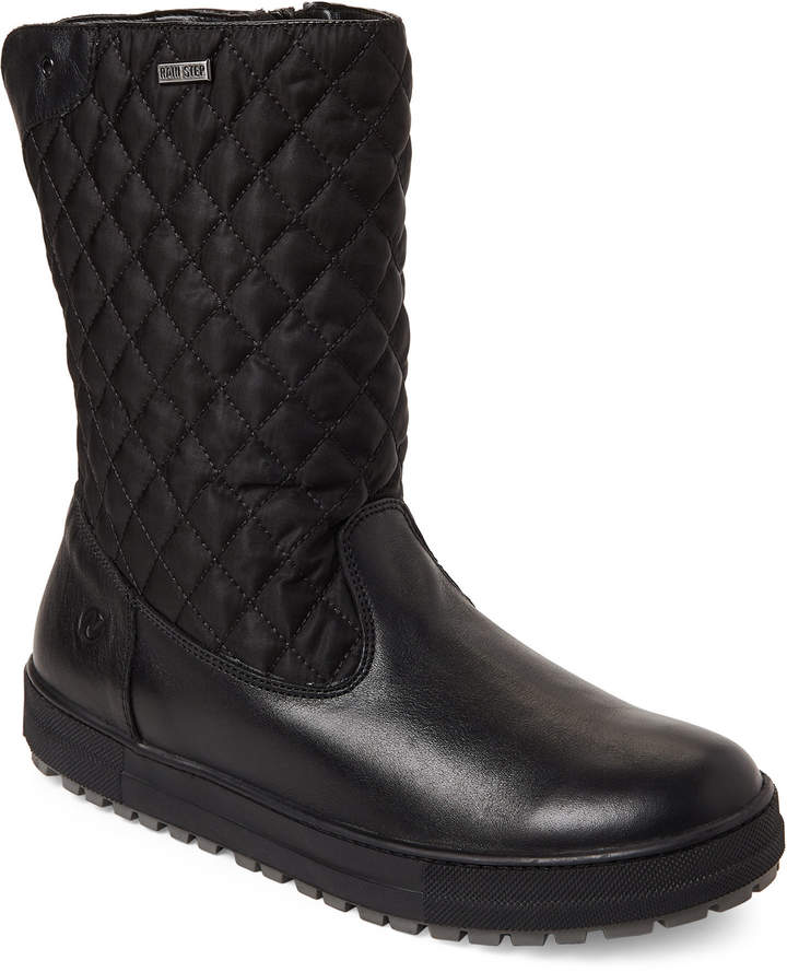 Naturino (Kids Girls) Black Lauca Quilted Lined Boots
