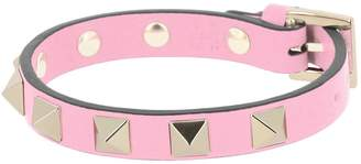 Valentino GARAVANI Jewel Rockstud Spikes Bracelet In Genuine Leather With Adjustable Buckle