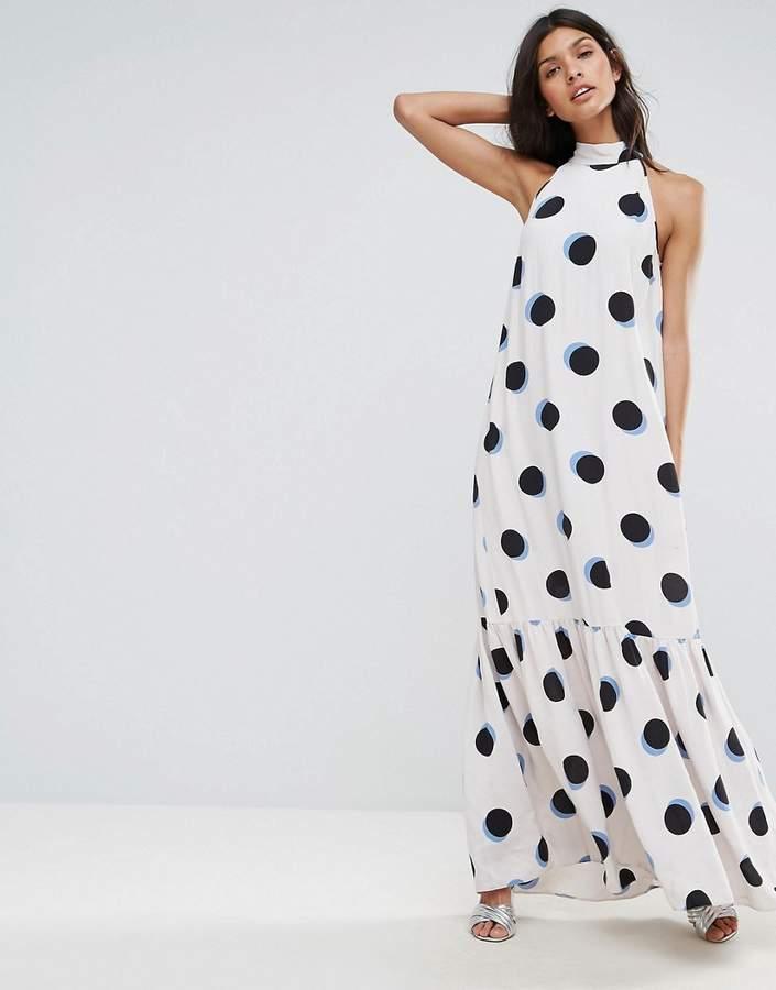 AsosASOS Tiered Spot Maxi Dress