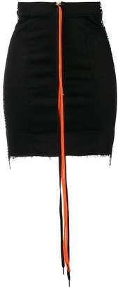 Mia-Iam logo trim mini skirt
