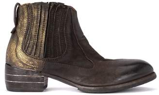 Moma Bandolero Dark Brown And Gold Texan Boots