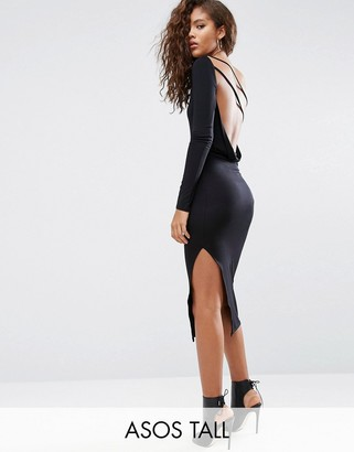 ASOS Tall ASOS TALL One Shoulder Cowl Back Midi Dress $38 thestylecure.com