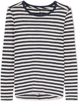 Madewell Whisper Striped Slub Cotton-jersey Top