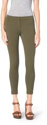 Michael Kors Stretch Cotton-Twill Leggings