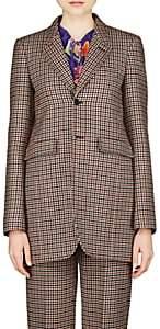 Balenciaga Women's Virgin Wool Checked Blazer
