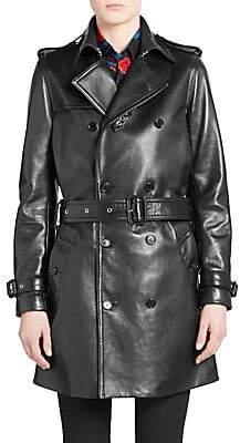 Saint Laurent Women's Leather Trench Coat
