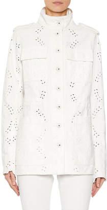 Off-White Off White M65 Eyelet Embroidered Denim Jacket