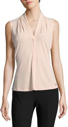 Calvin Klein V-Neck Drape Sleeveless Top