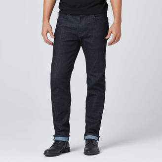 DSTLD Mens Slim Jeans in Dark Wash Resin - Grey Stitch