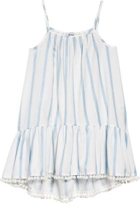 Milly Minis Embroidered Stripe Cover-Up Dress