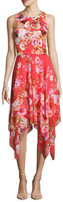 Robbie Bee Sleeveless Floral Fit & Flare Dress-Petite