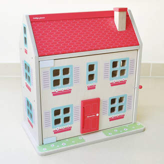Jammtoys wooden toys Wooden Dolls House Complete With Family And Furniture