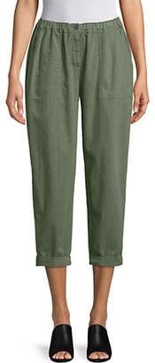 Eileen Fisher Nori Cotton Twill Cropped Pants