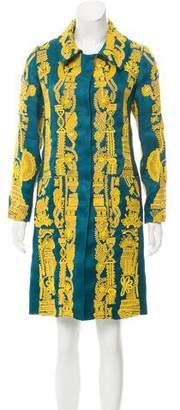 Oscar de la Renta Embroidered Knee-Length Coat