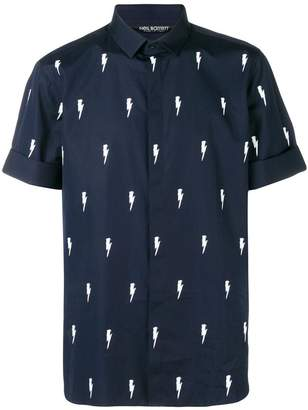 Neil Barrett thunder print shirt
