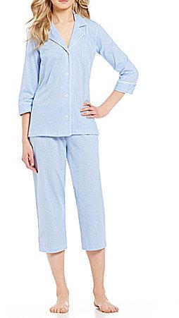 Lauren Ralph LaurenLauren Ralph Lauren Gingham Jersey Capri Pajamas