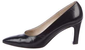 Bruno Magli Leather Round-Toe Pumps