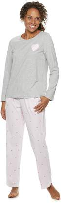 Croft & Barrow Women's Valentine's Day Graphic Tee & Pants Pajama Set