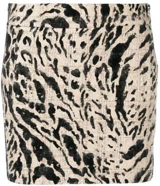 Haider Ackermann Malus printed mini skirt