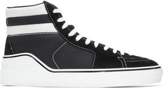 George V Suede And Cotton-canvas High-top Sneakers Givenchy ynsxuvINg